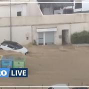 Corse: des pluies diluviennes inondent les rues Ajaccio