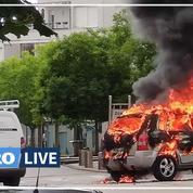 Violences à Dijon: des barricades en feu le 15 juin dans le quartier des Grésilles