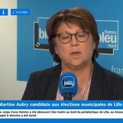 Municipales à Lille: Martine Aubry veut «aller encore plus loin»