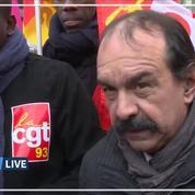 Grève du 10 décembre: Martinez reconnaît qu'il y a «moins de monde»