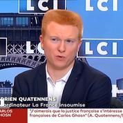 Ghosn: sa fuite «n'est pas à la portée de tout justiciable», dénonce Adrien Quatennens