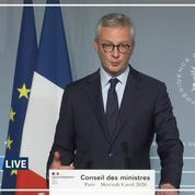 «Il n'y aura pas de pénurie alimentaire en France», assure Bruno Le Maire
