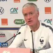 Football: la conférence de presse des Bleus avant France-Moldavie