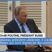 Poutine : ses discussions avec le président ukrainien «provoquent un optimisme prudent»