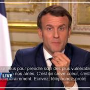 Emmanuel Macron énumère les gestes barrières contre le coronavirus