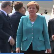 Angela Merkel est arrivée au sommet du G7