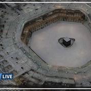 À cause du coronavirus, l'esplanade entourant la Kaaba à la Mecque est vide