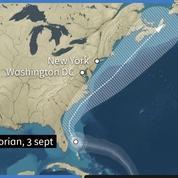 Prévisions de la trajectoire de l'ouragan Dorian sur 5 jours