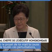 Hongkong : Carrie Lam veut «éliminer» la violence «par l'application de la loi»