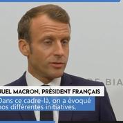 Iran : «Aucun membre du G7 ne veut» que Téhéran ait l'arme nucléaire, assure Emmanuel Macron