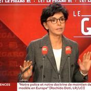 Les sondages sont «une note d'ambiance», estime Rachida Dati