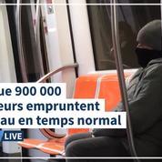 Coronavirus: à Rome, le métro déserté en pleine heure de pointe