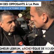 Manifestation contre la PMA : «L'enfant est un don » (Mgr Lebrun)