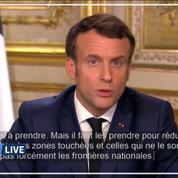 Macron: «Nous aurons sans doute des mesures de fermeture de frontière à prendre» au niveau européen