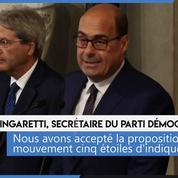 Italie : un accord entre le parti démocrate et le M5S