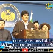 Bolivie: Evo Morales promet la tenue d'une nouvelle élection présidentielle
