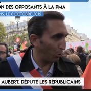Manifestation contre la PMA : «La PMA conduira inévitablement à la GPA» (Julien Aubert)