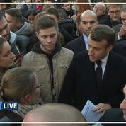 Amiens : Macron interpellé sur la précarité étudiante