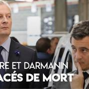 Bruno Le Maire et Gérald Darmanin menacés de mort