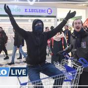 Retraites: un centre commercial investi par des manifestants près de Nantes