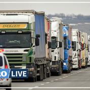 Les routiers exaspérés par les interminables files d'attente aux frontières