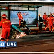 Chine: le bitume s'effondre subitement sous un bus et tue au moins six passagers
