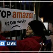 «Black Friday»: sit-in d'opposants devant le siège français d'Amazon