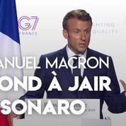 Emmanuel Macron répond à Bolsonaro après ses critiques sur Brigitte Macron