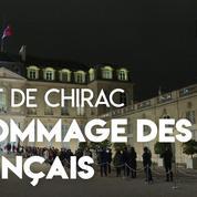 À l'Élysée, l'hommage des Français à Jacques Chirac