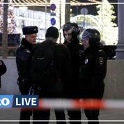 Tirs à Moscou: les images aux abords du siège des services secrets