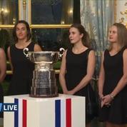 Tennis : les Françaises reçues par Emmanuel Macron après leur victoire en Fed Cup