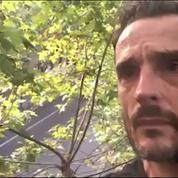 Un homme campe dans un arbre face au Ministère de l'écologie pour sauver des platanes