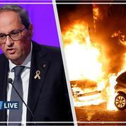 «Ça doit s'arrêter immédiatement», prévient le président catalan après une troisième nuit de violences
