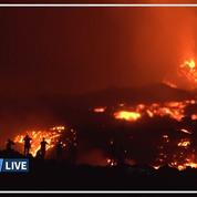 Les images du Piton de la Fournaise en éruption