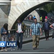 Premier week-end de déconfinement: à Paris, les promeneurs profitent des bords de Seine