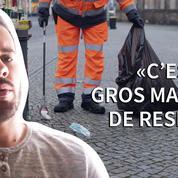 «Il ne faudrait pas que le masque devienne le mégot du nouveau monde»: Dorian, éboueur à Villeurbanne