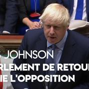 Brexit : Boris Johnson met l'opposition au défi de voter une motion de défiance