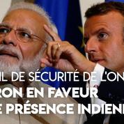 Conseil de sécurité de l'ONU : Macron souhaite que New Delhi devienne membre permanent