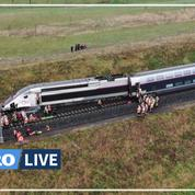 Bas-Rhin: les images du TGV Paris-Strasbourg après son déraillement
