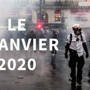 Retraites: nos images de la manifestation du 9 janvier