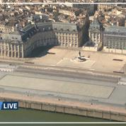 Confinement: les images en hélicoptère de Bordeaux vide