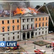 Les images de l'incendie de la mairie d'Annecy