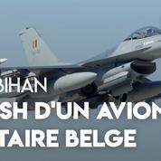 Crash d'un avion militaire F16 belge dans le Morbihan