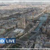 Coronavirus: les rues vides de Paris, filmées par un drone