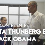 «Personne n'est trop petit pour changer le monde» : rencontre entre Greta Thunberg et Barack Obama