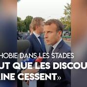 Homophobie dans les stades : «Il faut que les discours de haine cessent» souhaite Emmanuel Macron