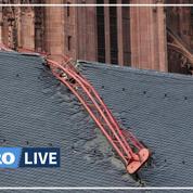 Tempête Ciara: une grue s'effondre sur la cathédrale de Francfort