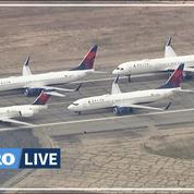Coronavirus: des avions garés dans le désert près de Los Angeles