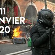 Retraites : les débordements du 11 janvier en images