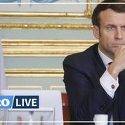 Emmanuel Macron en visite à l'hôpital militaire de Mulhouse
